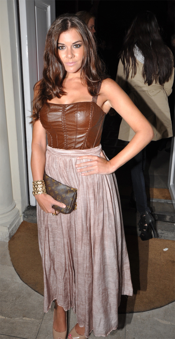 Imogen Thomas at BlackBerry Party in London