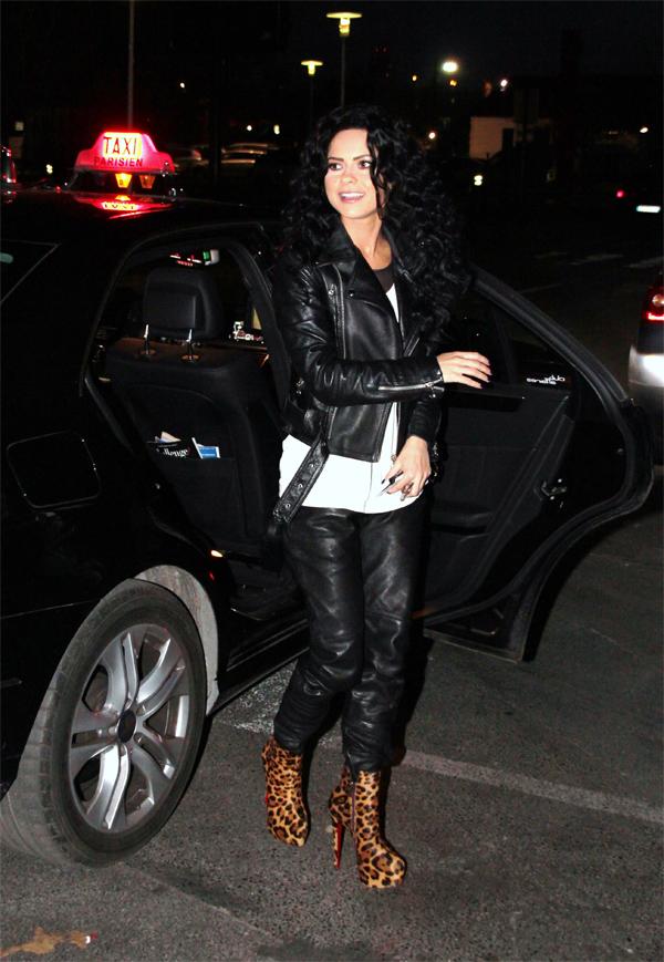 Inna arrives at TV Show Bienvenue chez Cauet in Paris
