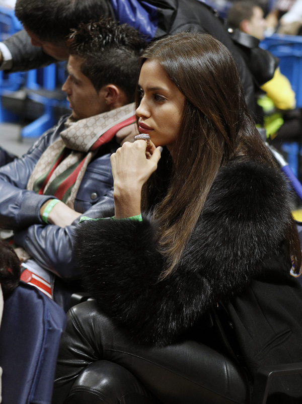 Irina Shayk at Real Madrid vs FC Barcelona Regal, ACB League Basketball