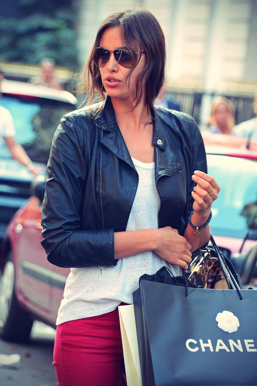 Irina Shayk shopping at the Chanel Store