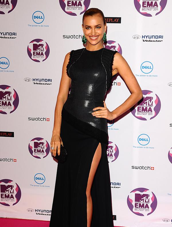 Irina Shayk at 2011 MTV European Music Awards in Belfast