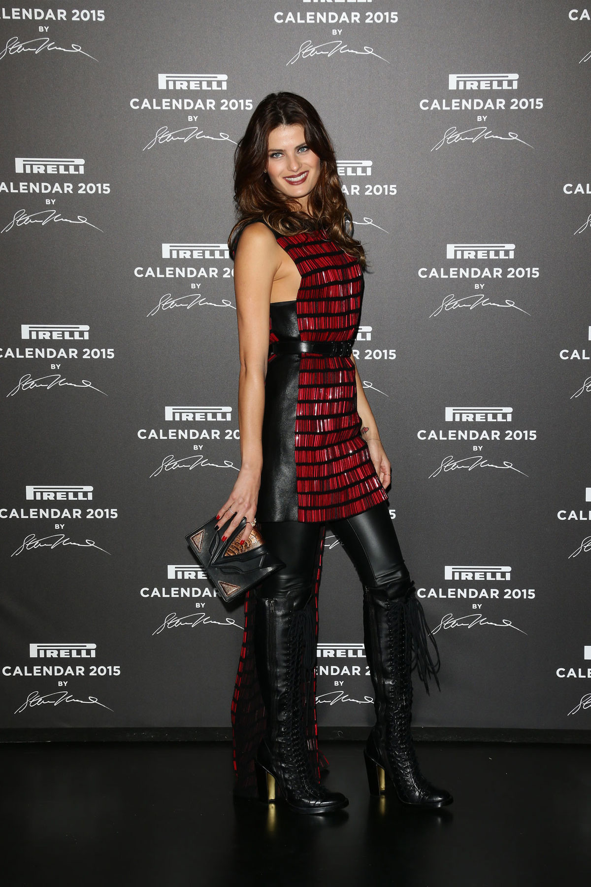 Isabeli Fontana attends the 2015 Pirelli Calendar Red Carpet