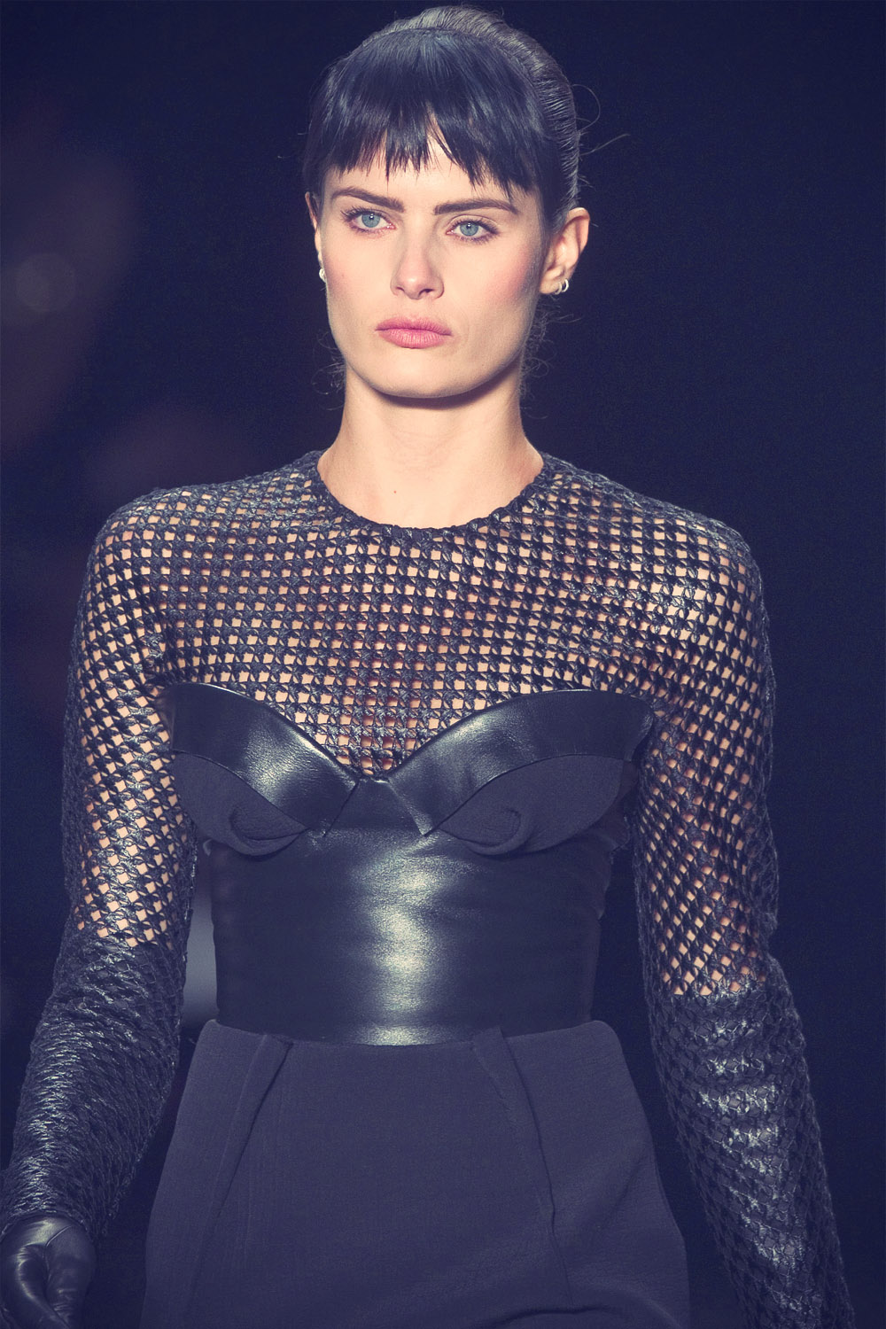 Isabeli Fontana wears a creation from Tufi Duek autumn winter collection