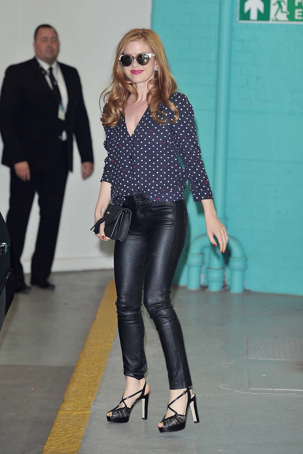 Isla Fisher At The Itv This Morning Studios Leather