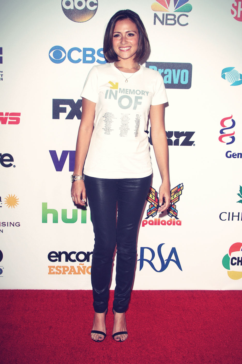 Italia Ricci attends 4th Annual Stand Up 2 Cancer Live Benefit