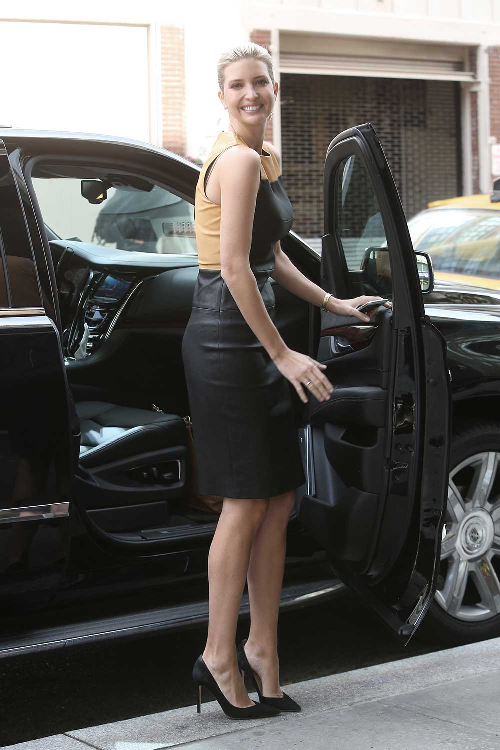 Ivanka Trump Attends Out In Nyc Leather Celebrities