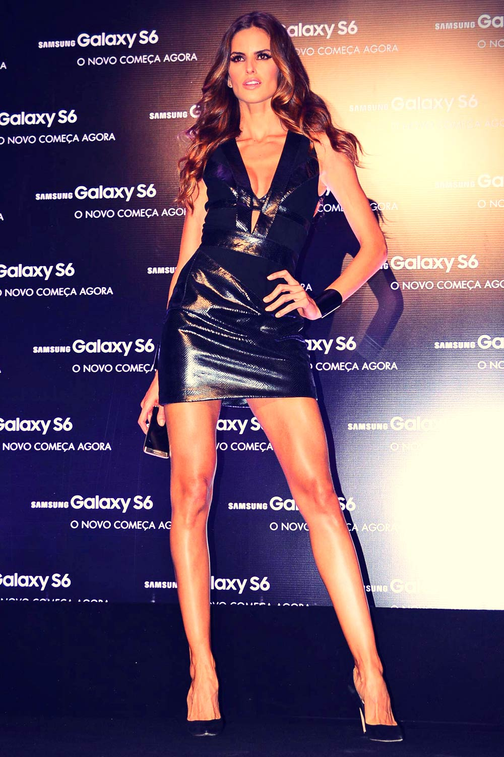 Izabel Goulart attends Samsung Galaxy S6 & S6 edge launch