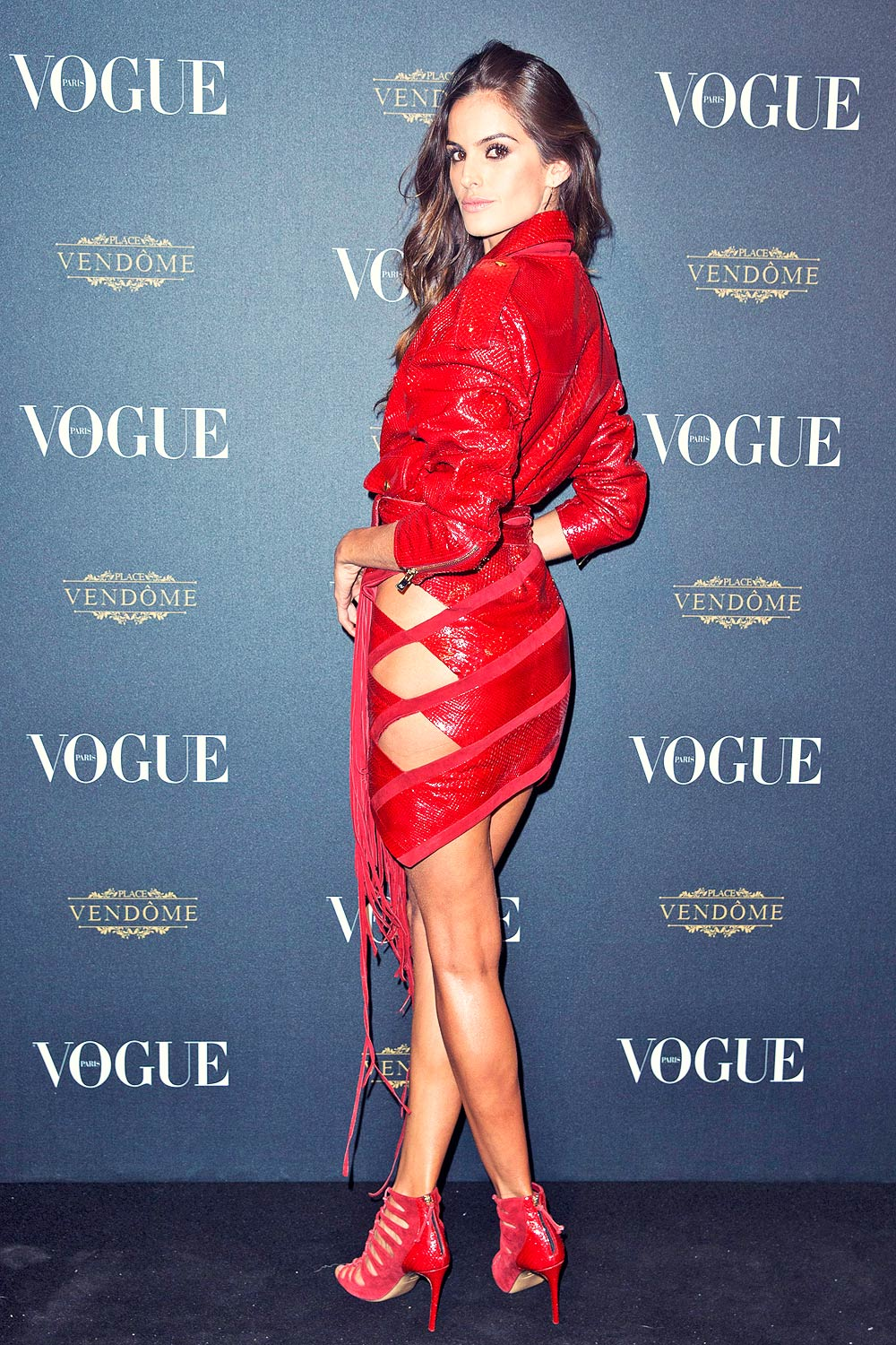 Izabel Goulart attends Vogue 95th anniversary party - Leather ...