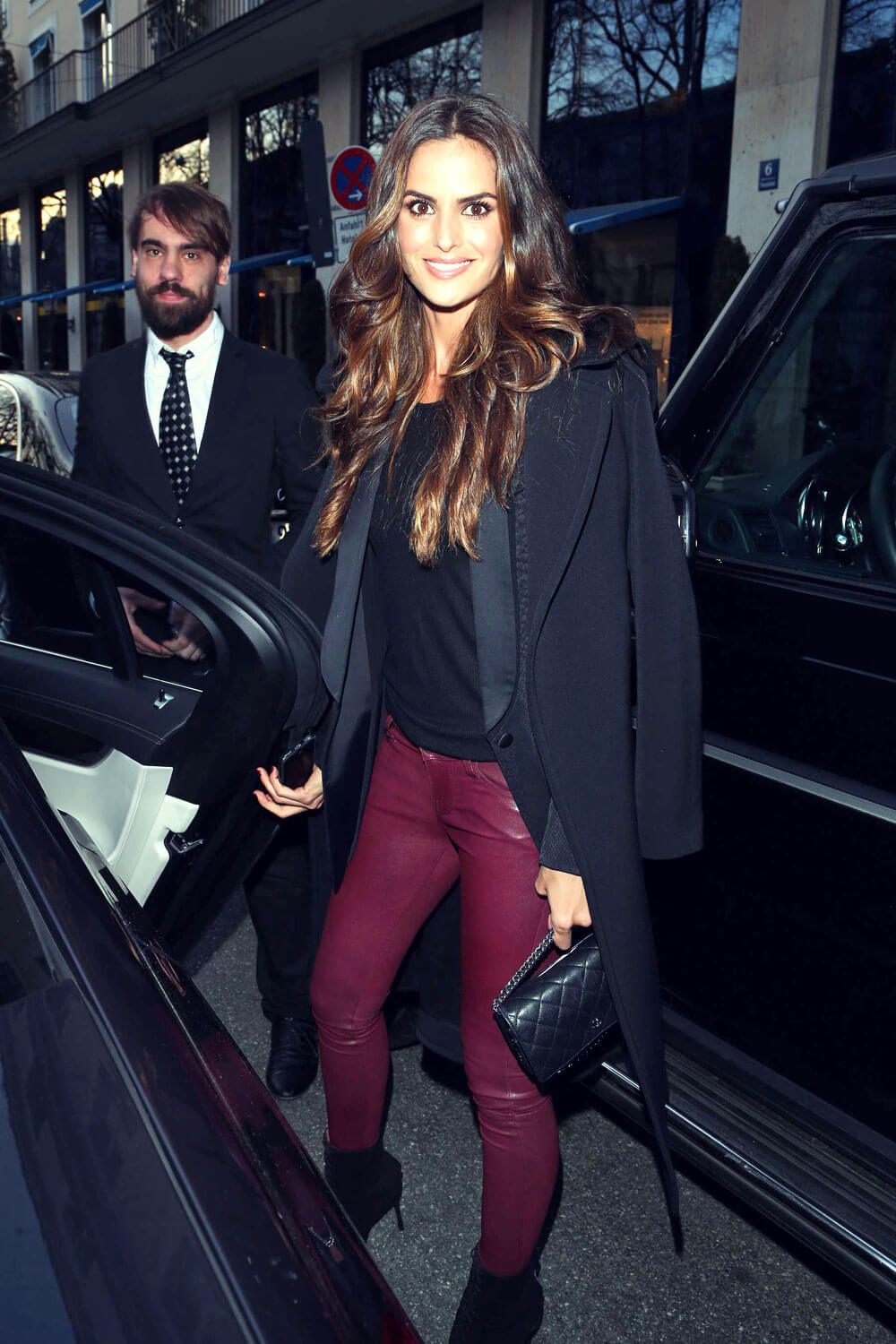 Izabel Goulart leaving her hotel in Munich