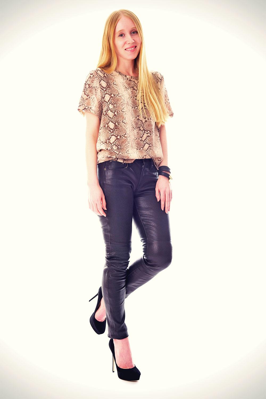 Jacqueline Rose - fashion blogger leather mix
