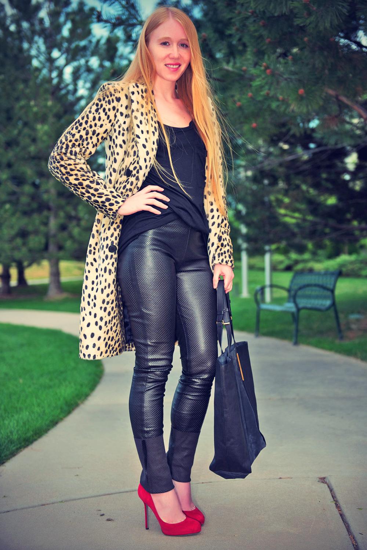 Jacqueline Rose leather mix
