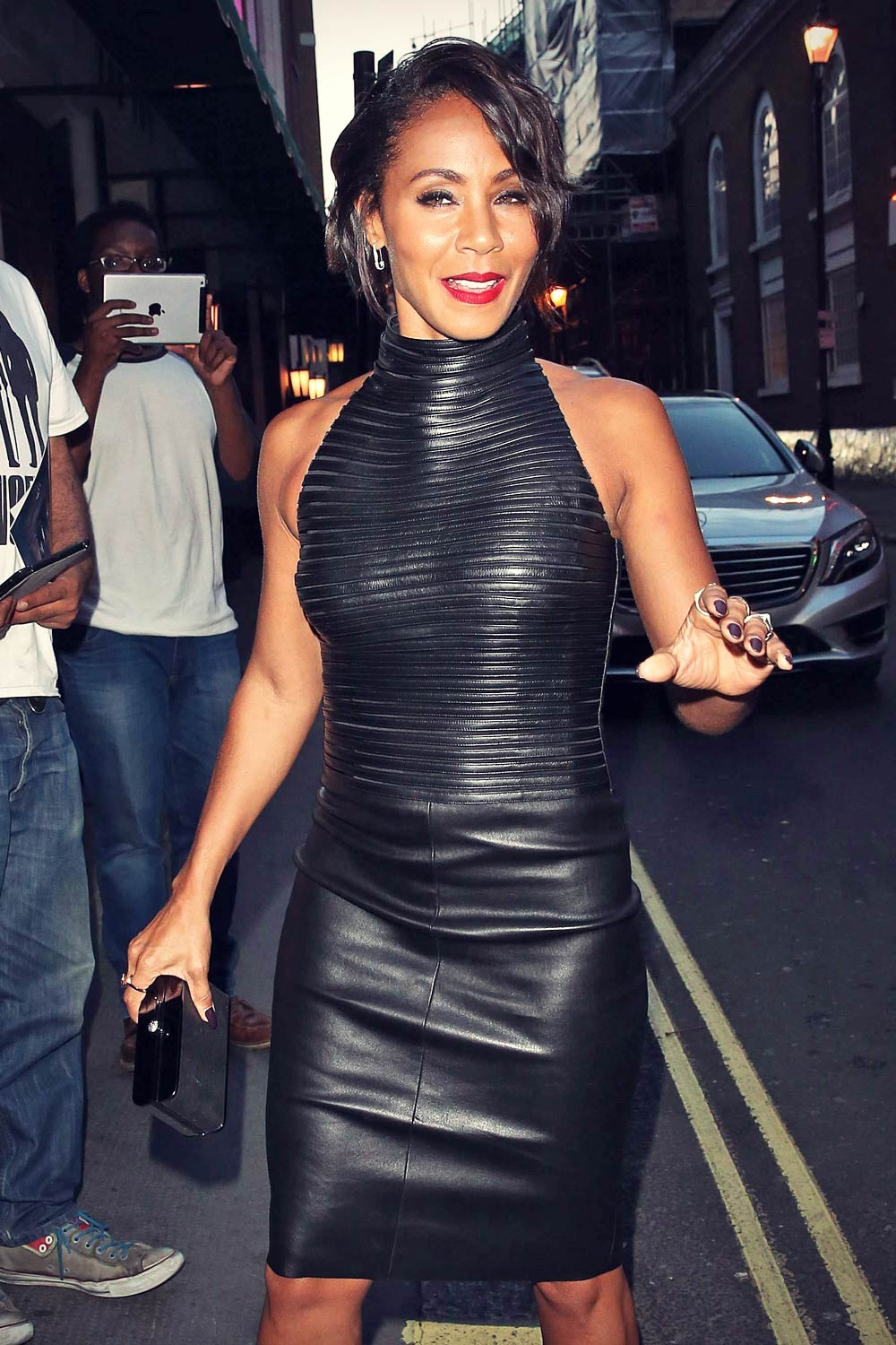 Jada Pinkett Smith seen at The Ivy in London