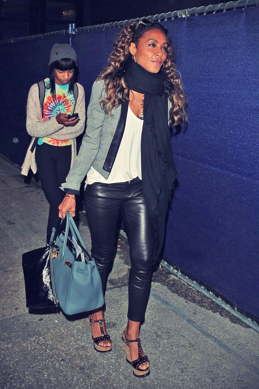 Jada-Pinkett Smith arrives on a flight at LAX