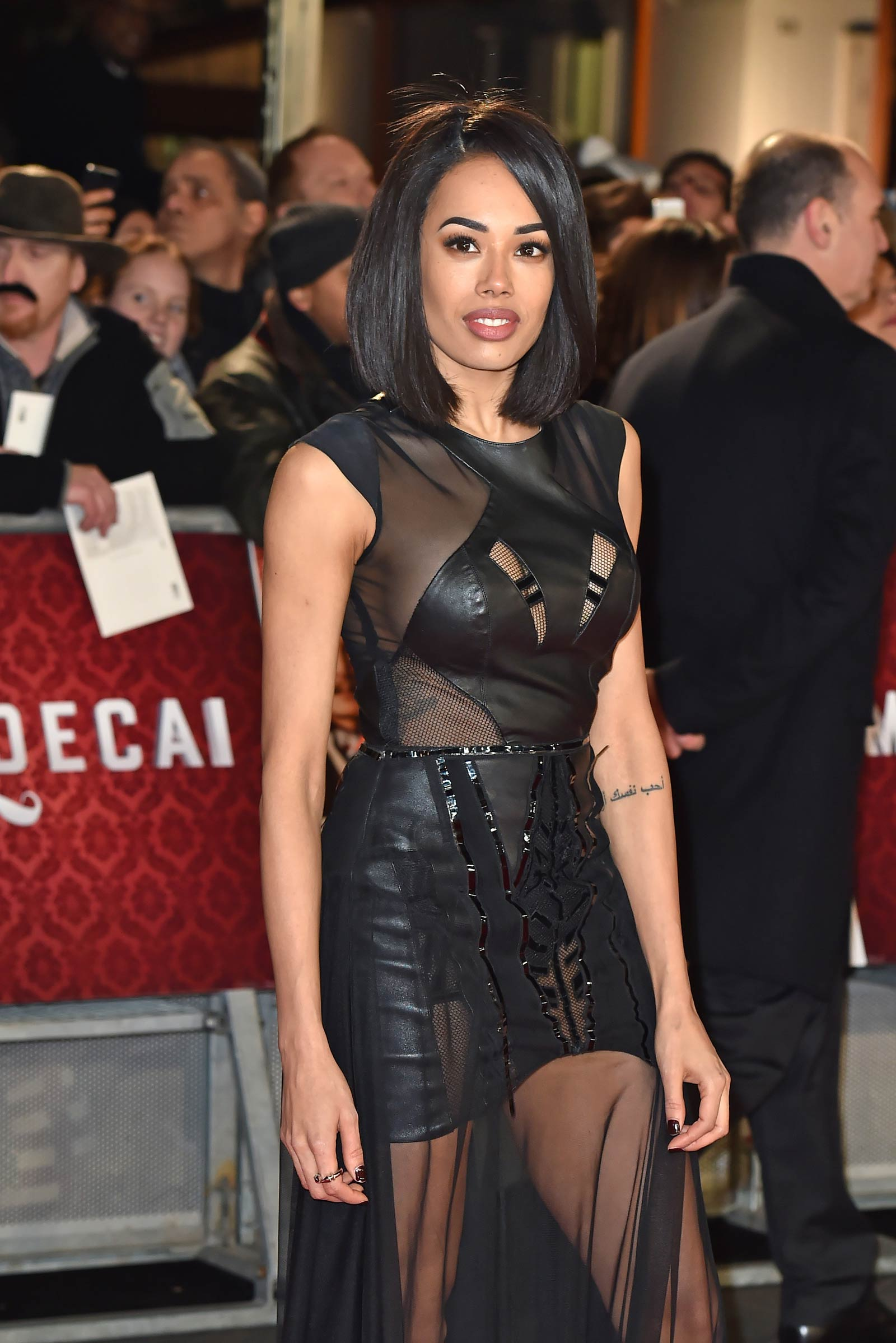 Jade Ewen attends Mortdecai London premiere