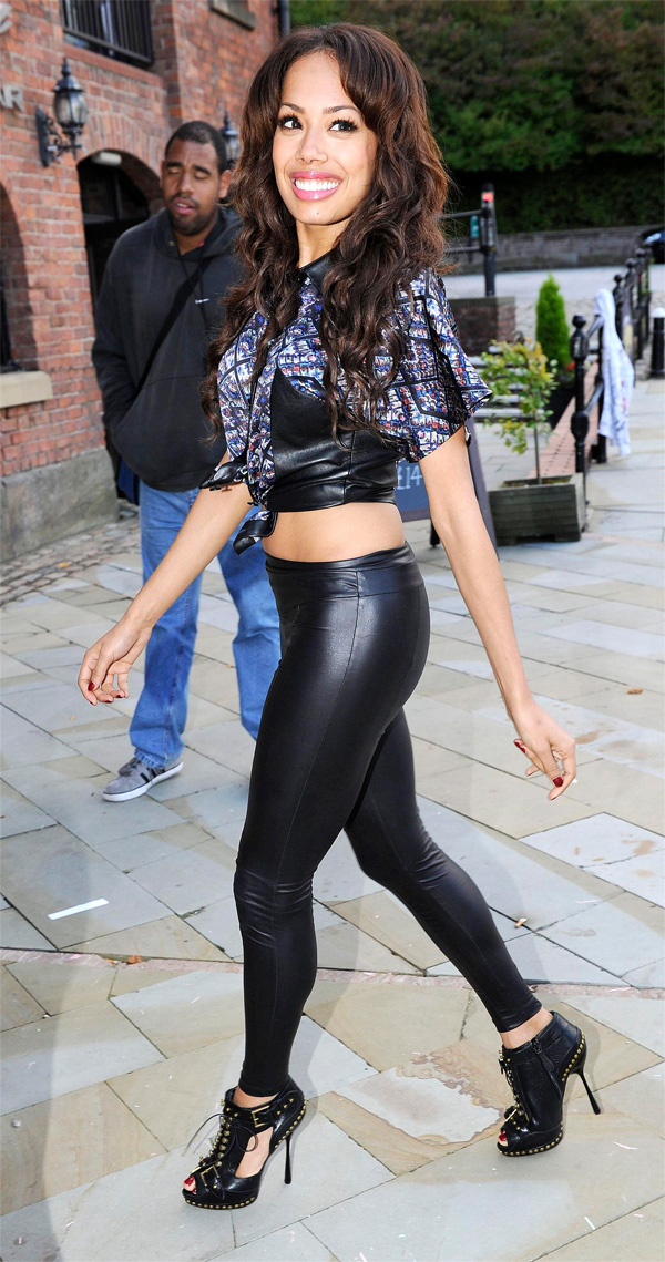 Jade Ewen arrive at Key 103 Manchester