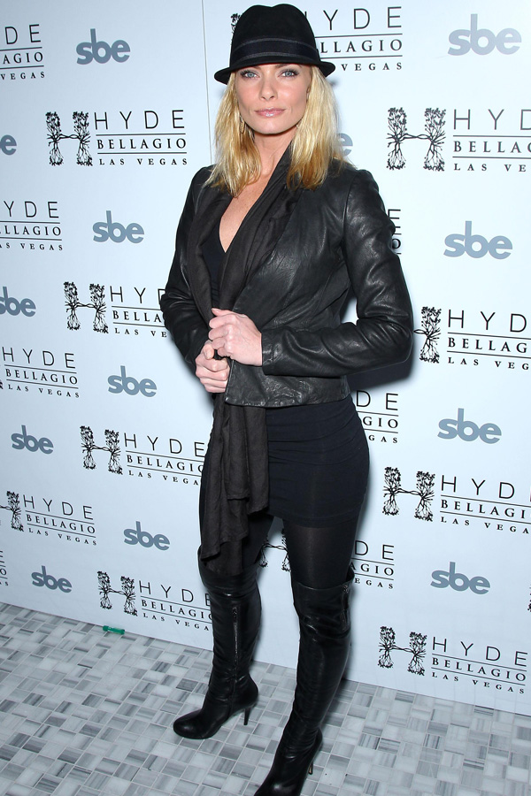Jaime Pressly attends actor Wilmer Valderrama 32nd birthday party at Hyde Bellagio