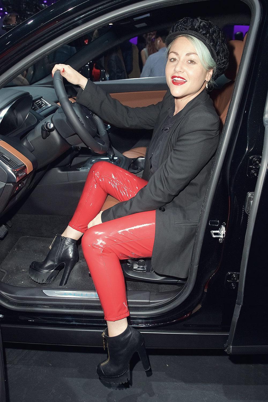 Jaimie Winstone attends the Jaguar E-Pace car launch party