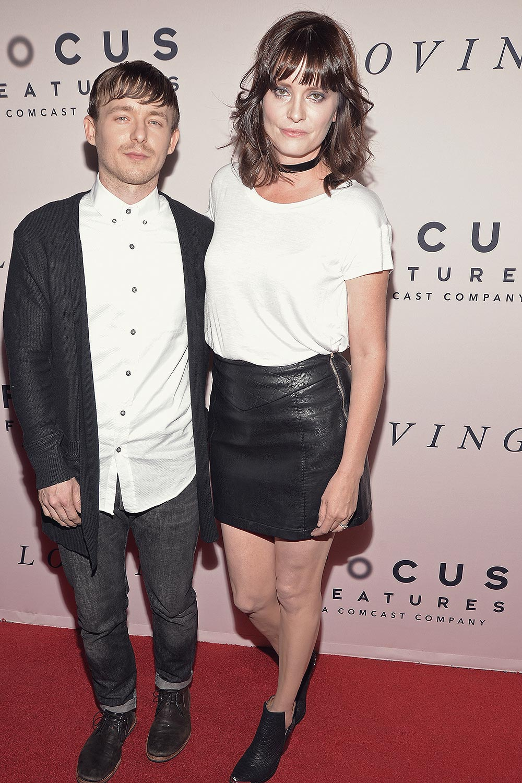 Jamie Allman attend the premiere of Loving