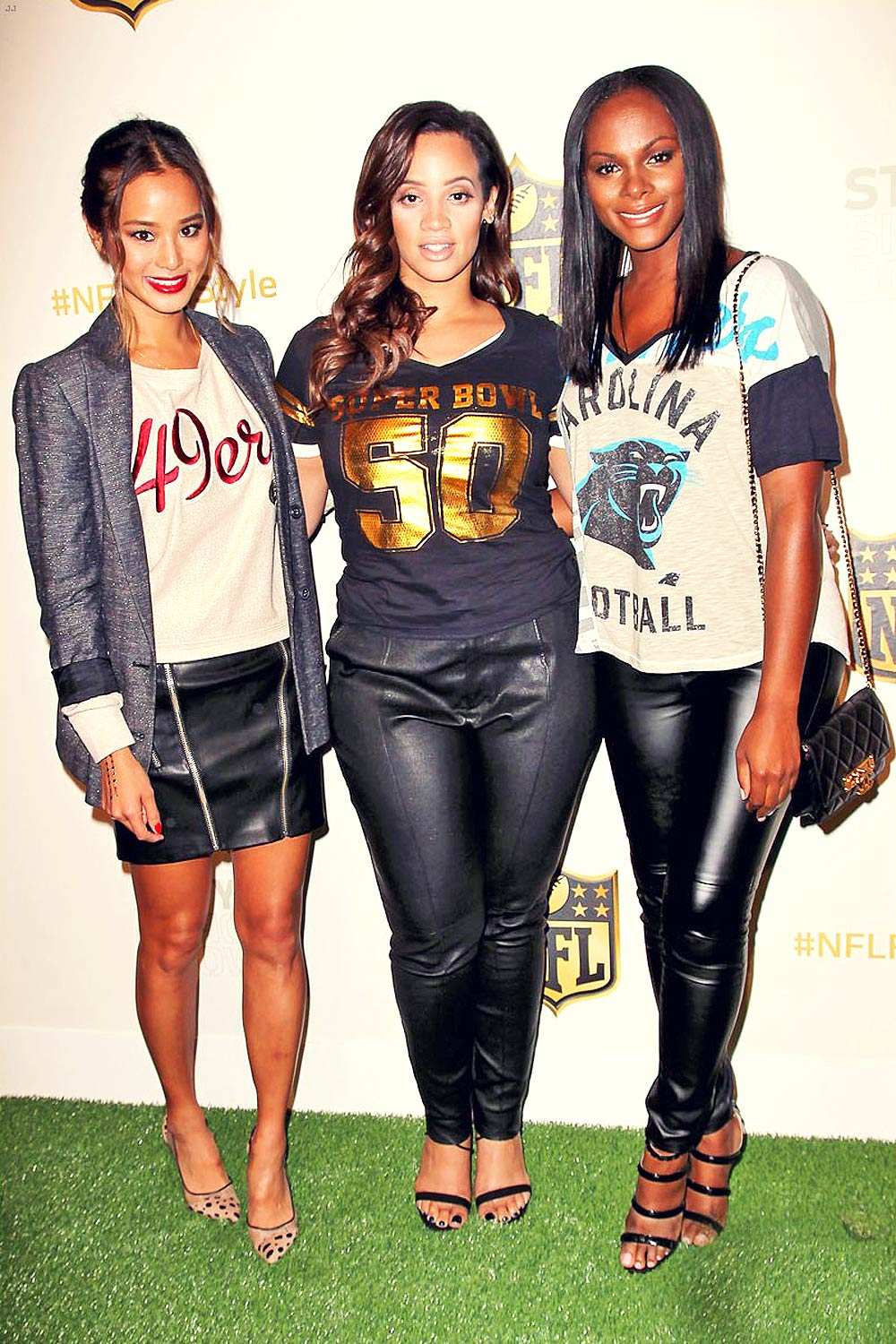 Jamie Chung, Tika Sumpter and Dascha Polanco attend NFL Women's Style Showdown