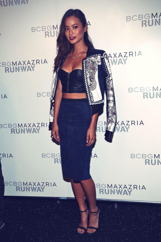 Jamie Chung attends 2014 BCBGMAXAZRIA Spring Fashion show