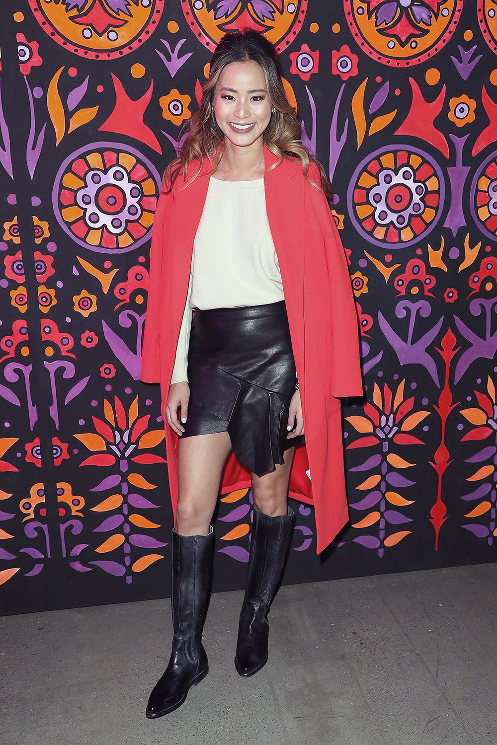 Jamie Chung attends Anna Sui show