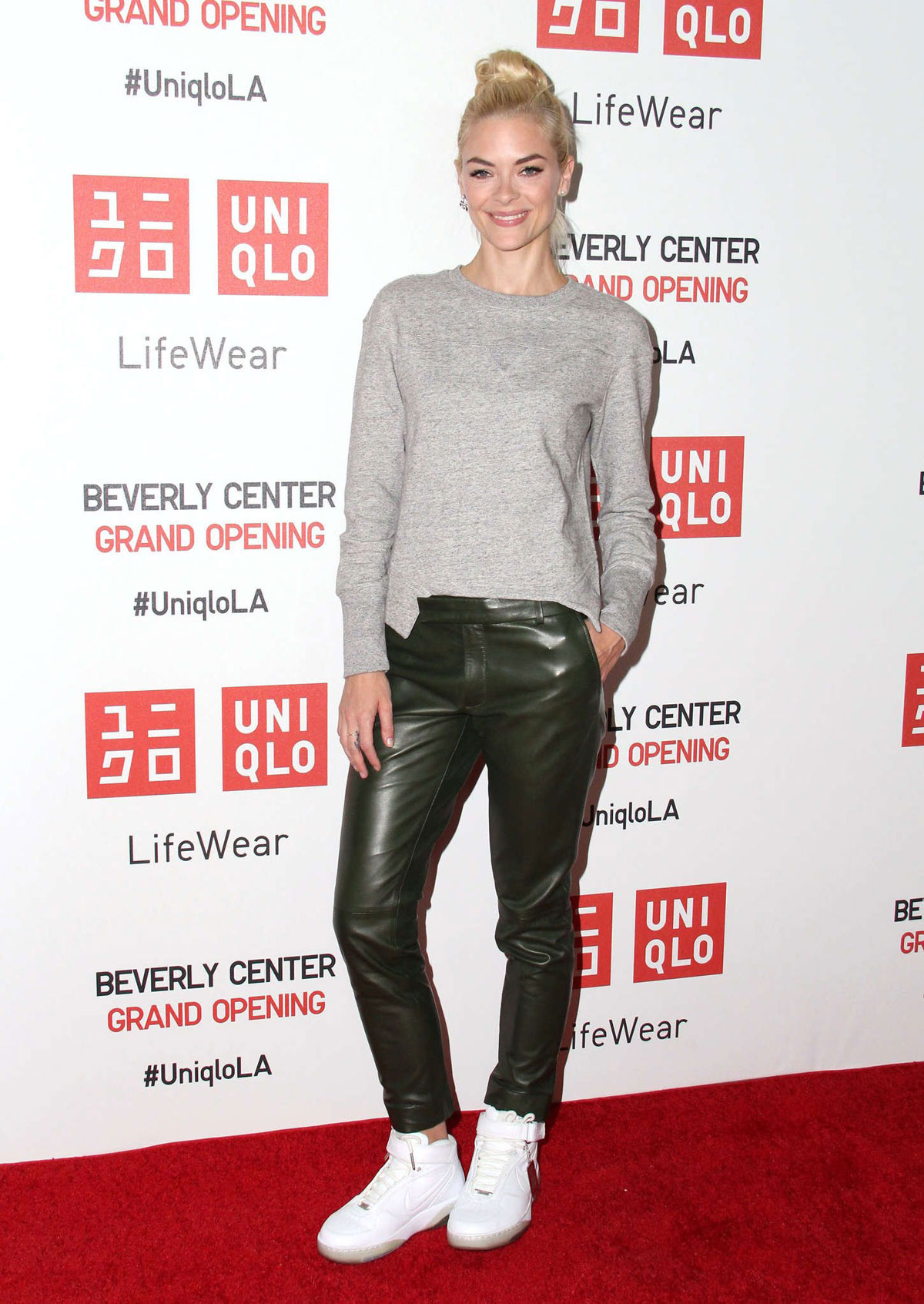 Jamie King UNIQLO Beverly Center flagship store opening