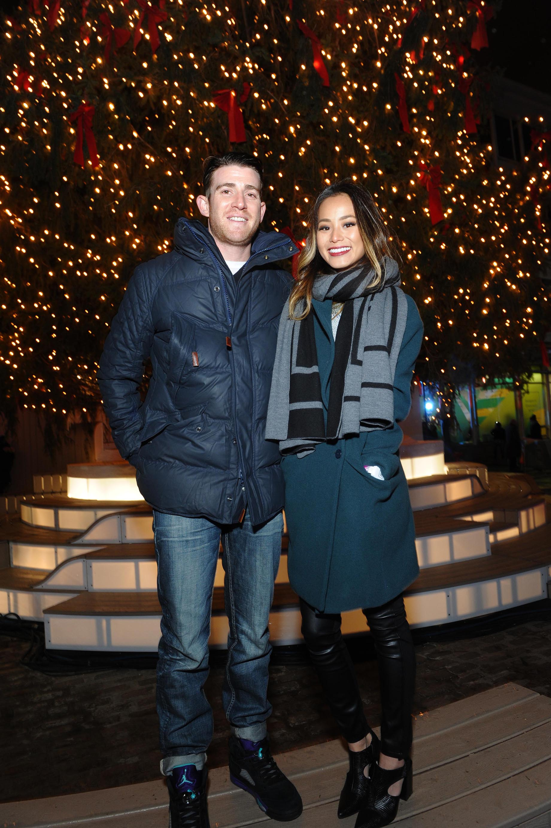 Jamie Chung attends Annual Tree Lighting Spectacular