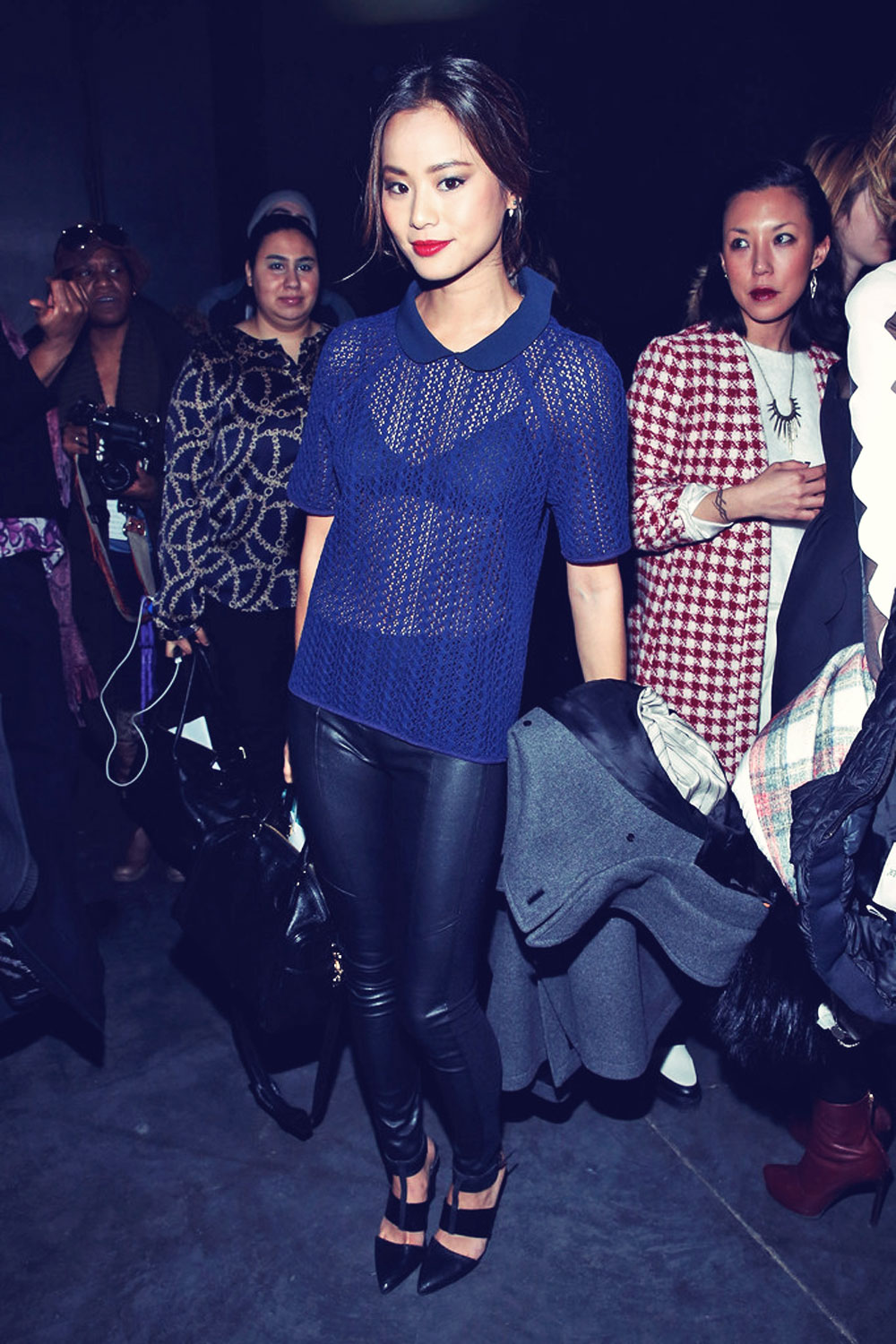 Jamie Chung attends Charlotte Ronson fashion show