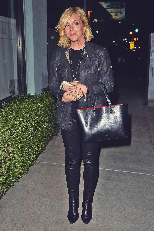 Jane Krakowski leaves an LA Film Critics Party