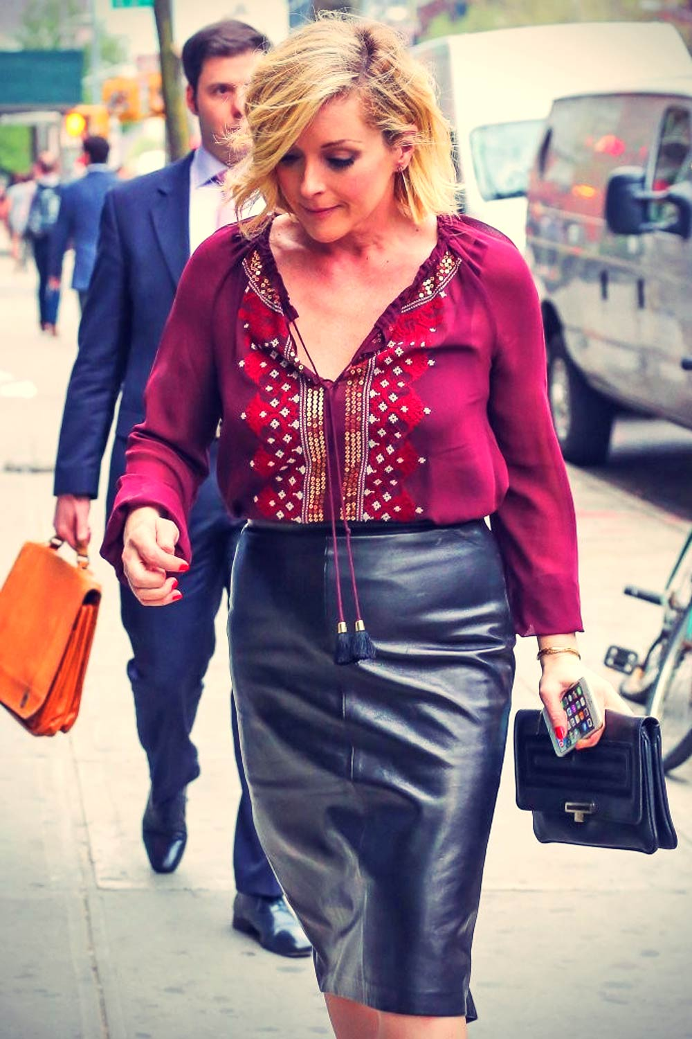 Jane Krakowski spotted outside the Bowery Hotel