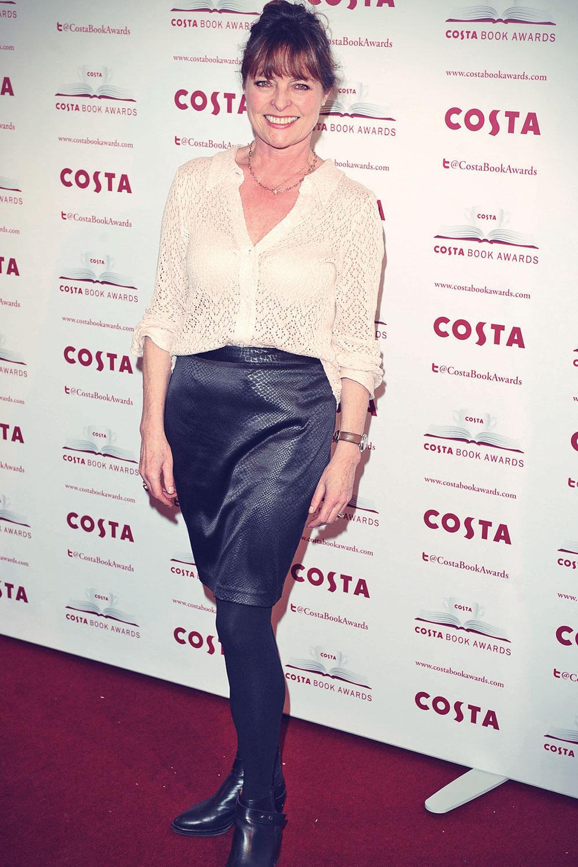 Janet Ellis attends Costa Book Awards
