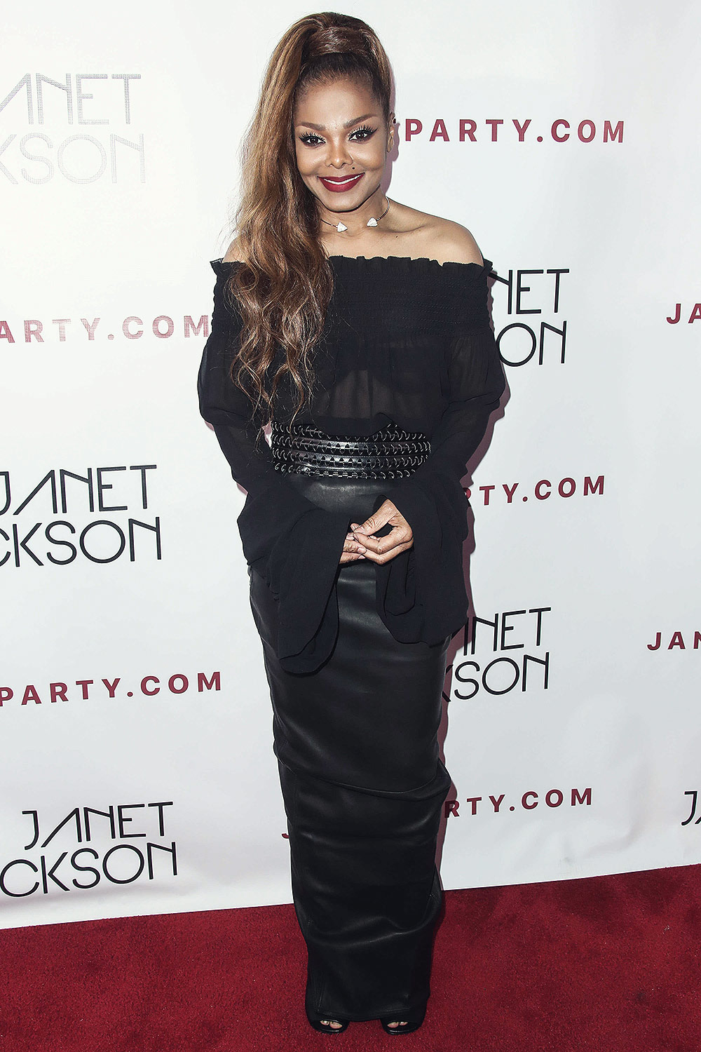 Janet Jackson at the aftershow party for her World Tour