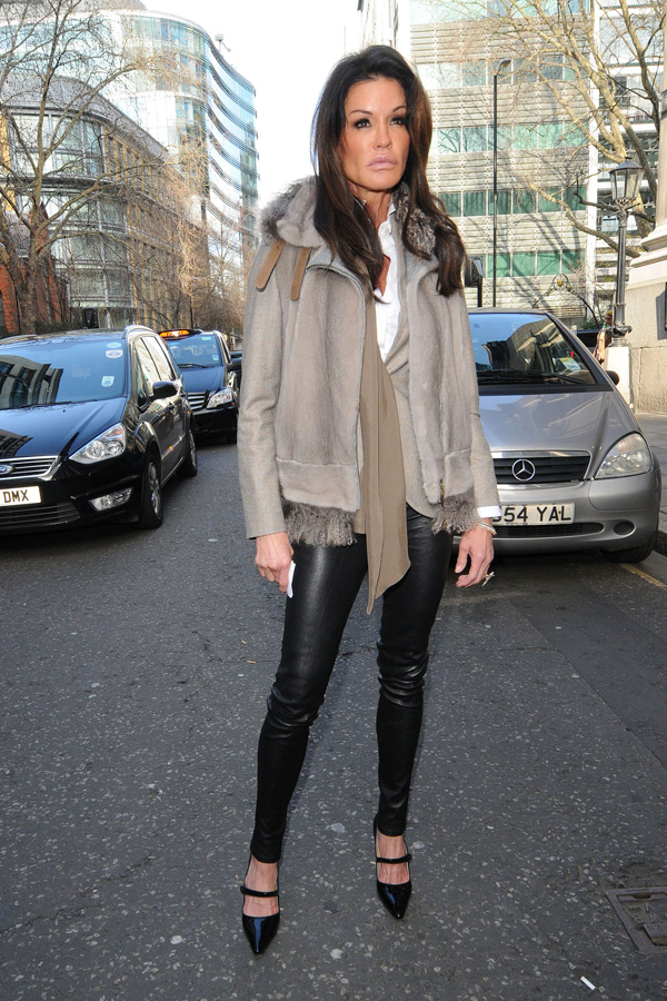 Janice Dickinson attends Vivienne Westwood London Fashion Week