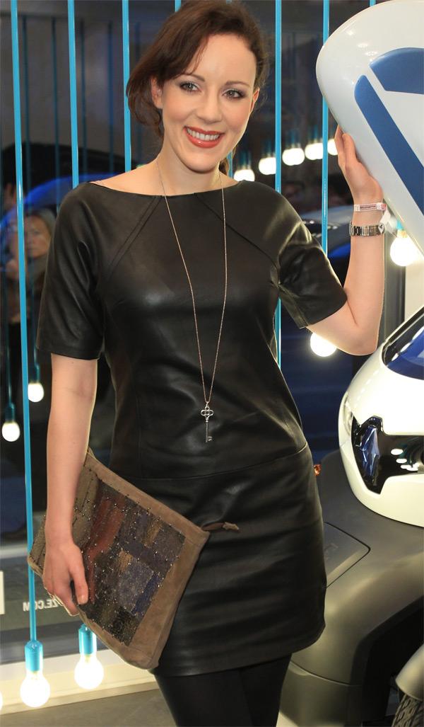 Jasmin Wagner at Mercedes Benz Fashion Week