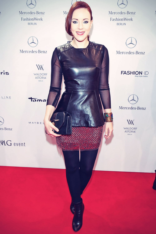 Jasmin Wagner attends Mercedes-Benz Fashion Week