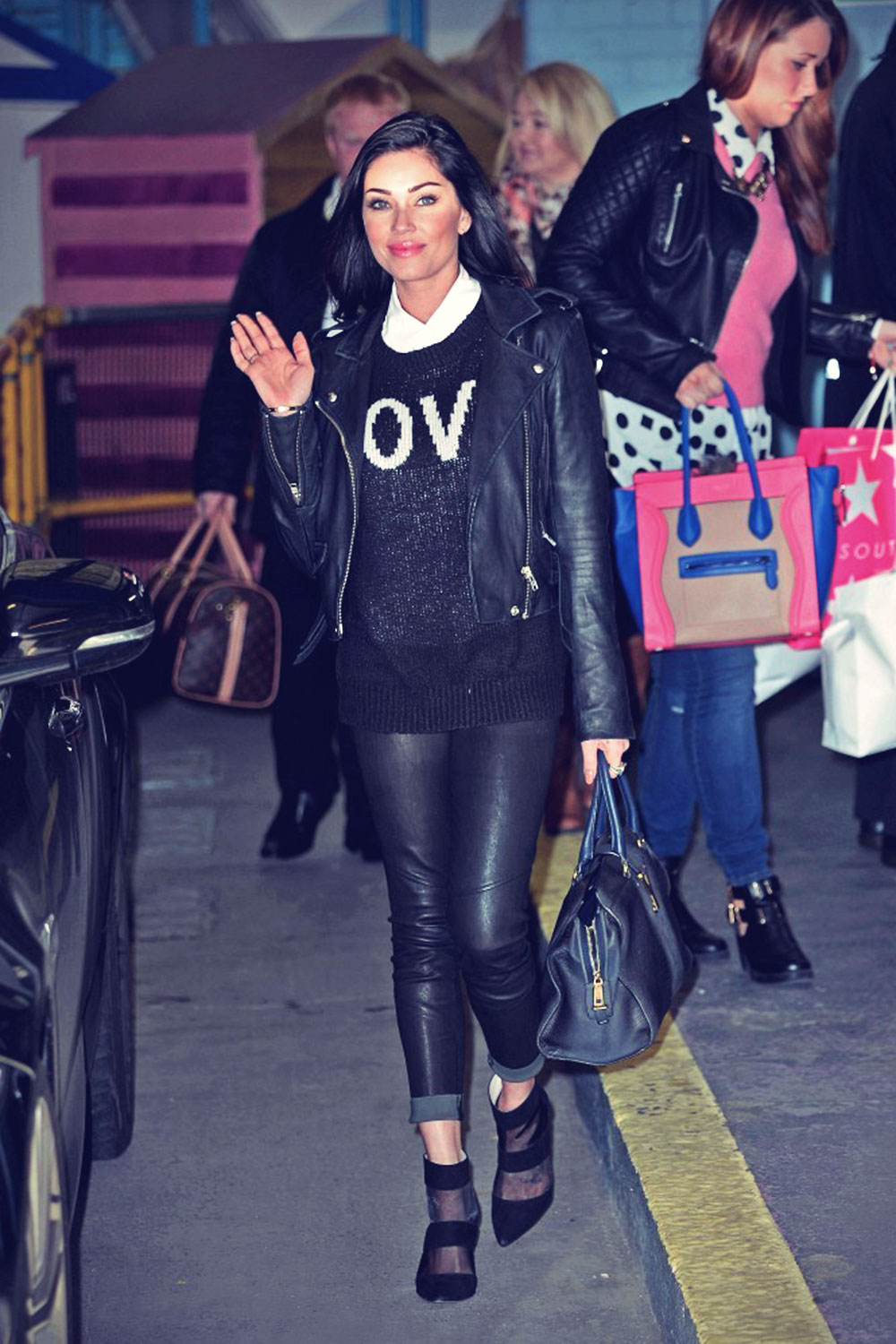 Jasmine Waltz arrives at the London studios