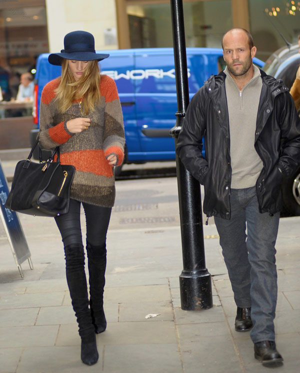 Rosie Huntington-Whiteley out and about together in London