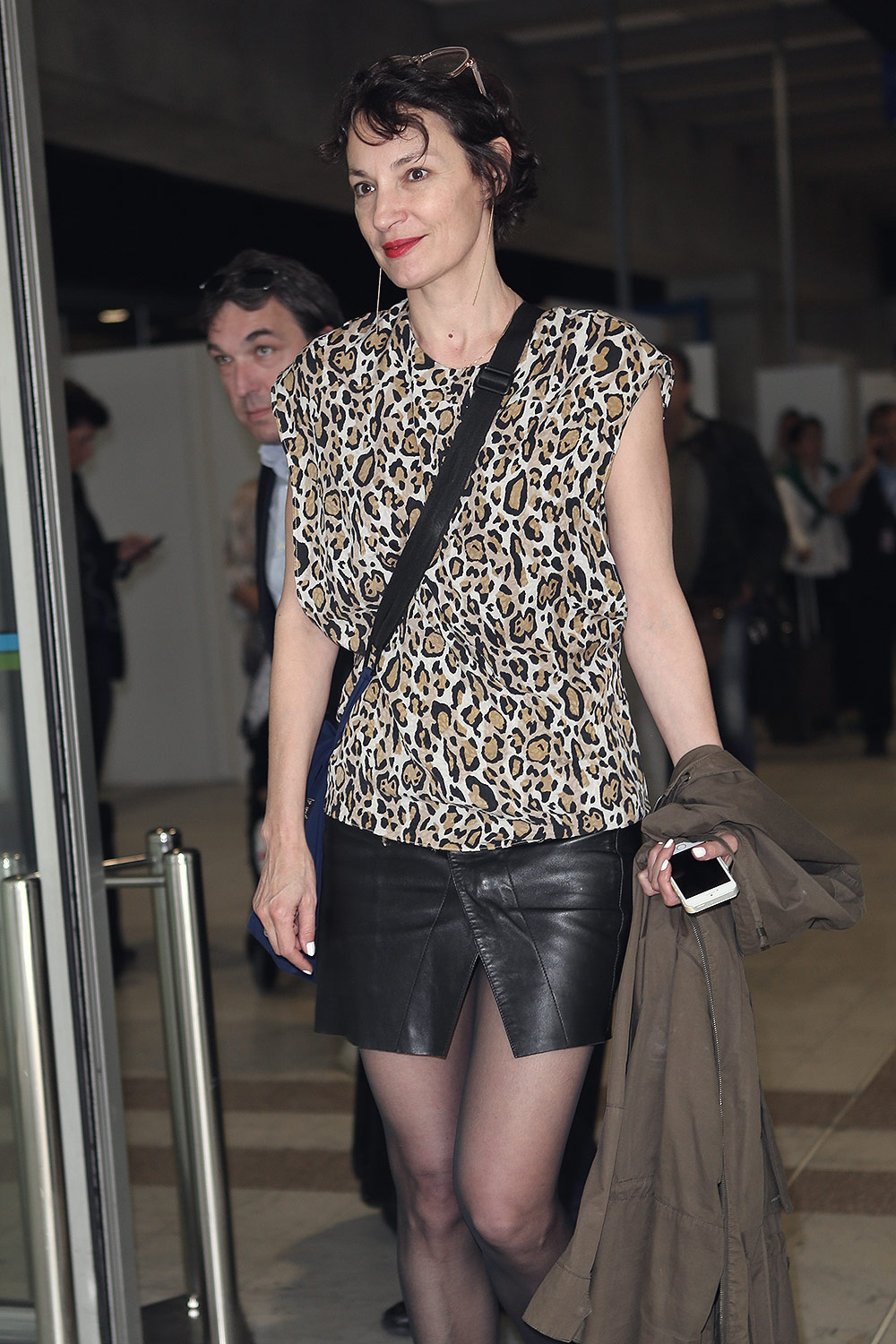 Jeanne Balibar arriving at the Nice Airport for the 70th annual Cannes