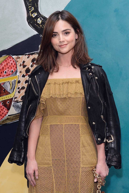 Jenna Coleman attends Burberry Prorsum Spring Summer