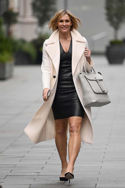 Jenni Falconer leaving Global Radio Studios in London
