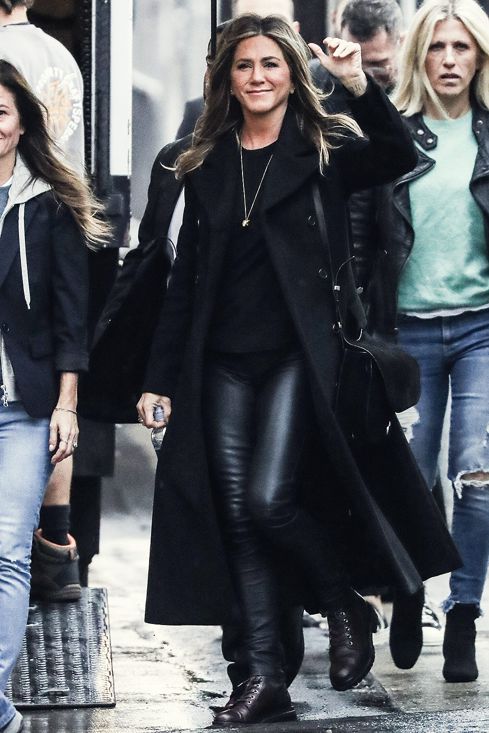 Jennifer Aniston outside Jimmy Kimmel Live