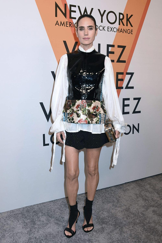 Jennifer Connelly attends Louis Vuitton 'Volez, Voguez, Voyagez' exhibition opening
