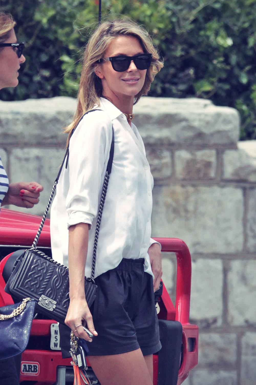 Jennifer Hawkins leaves lunch in Sydney