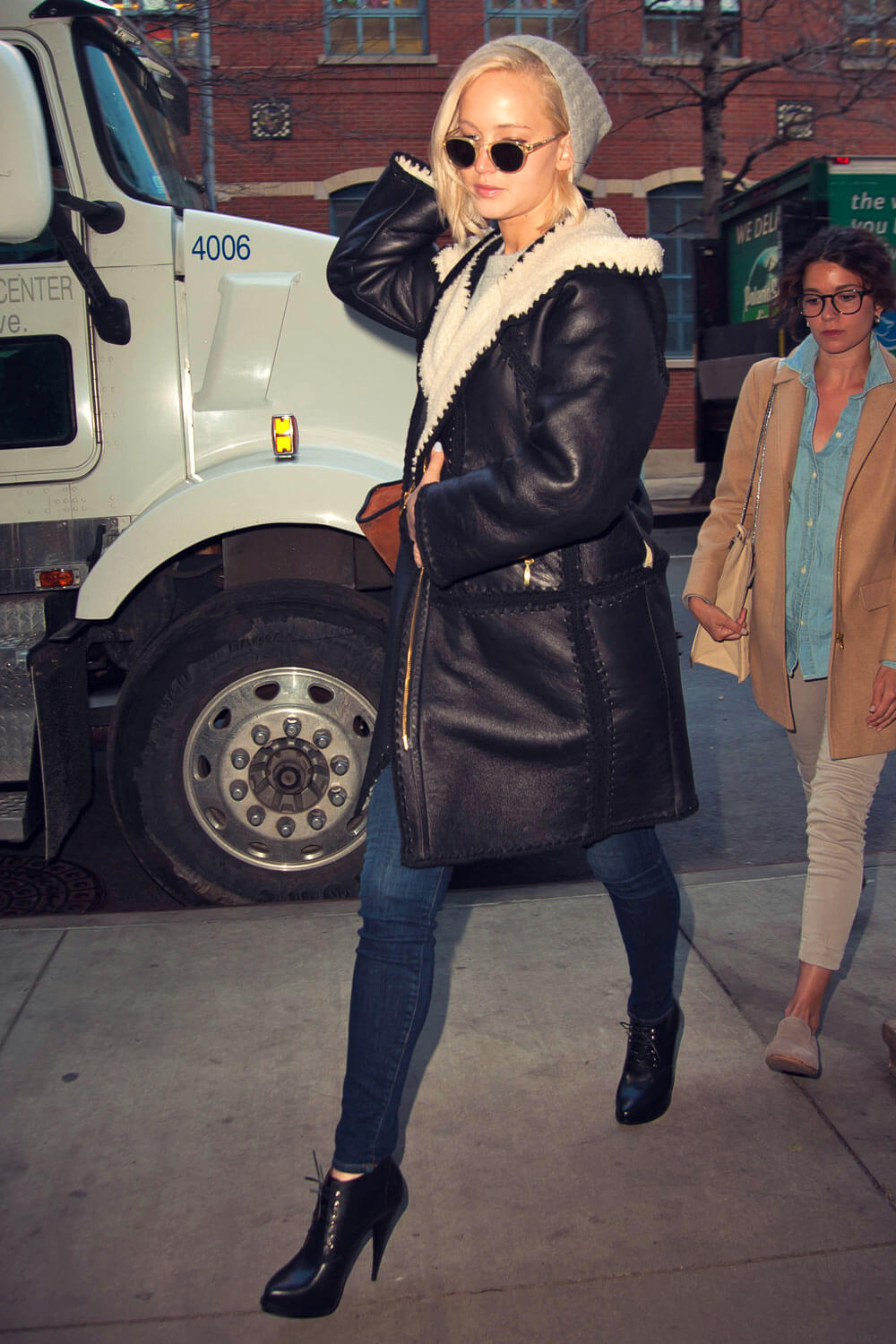 Jennifer Lawrence Out In Nyc Leather Celebrities