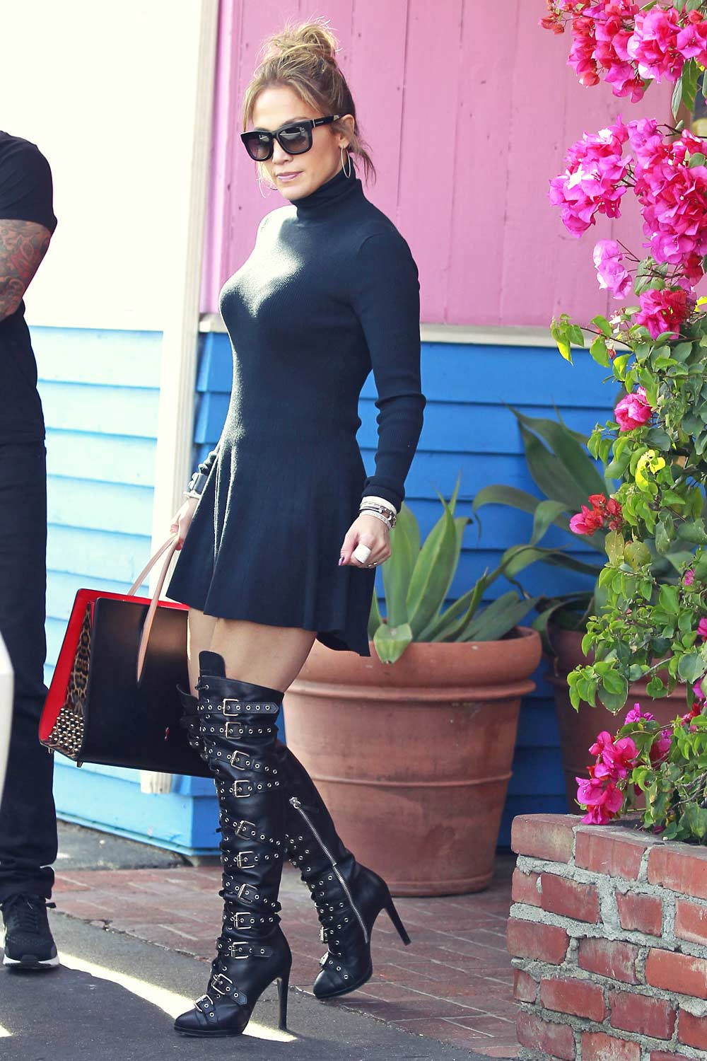 Jennifer Lopez out in West Hollywood