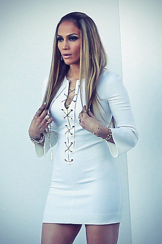 Jennifer Lopez arriving on the set of American Idol