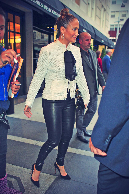 Jennifer Lopez leaving their hotel in New York City