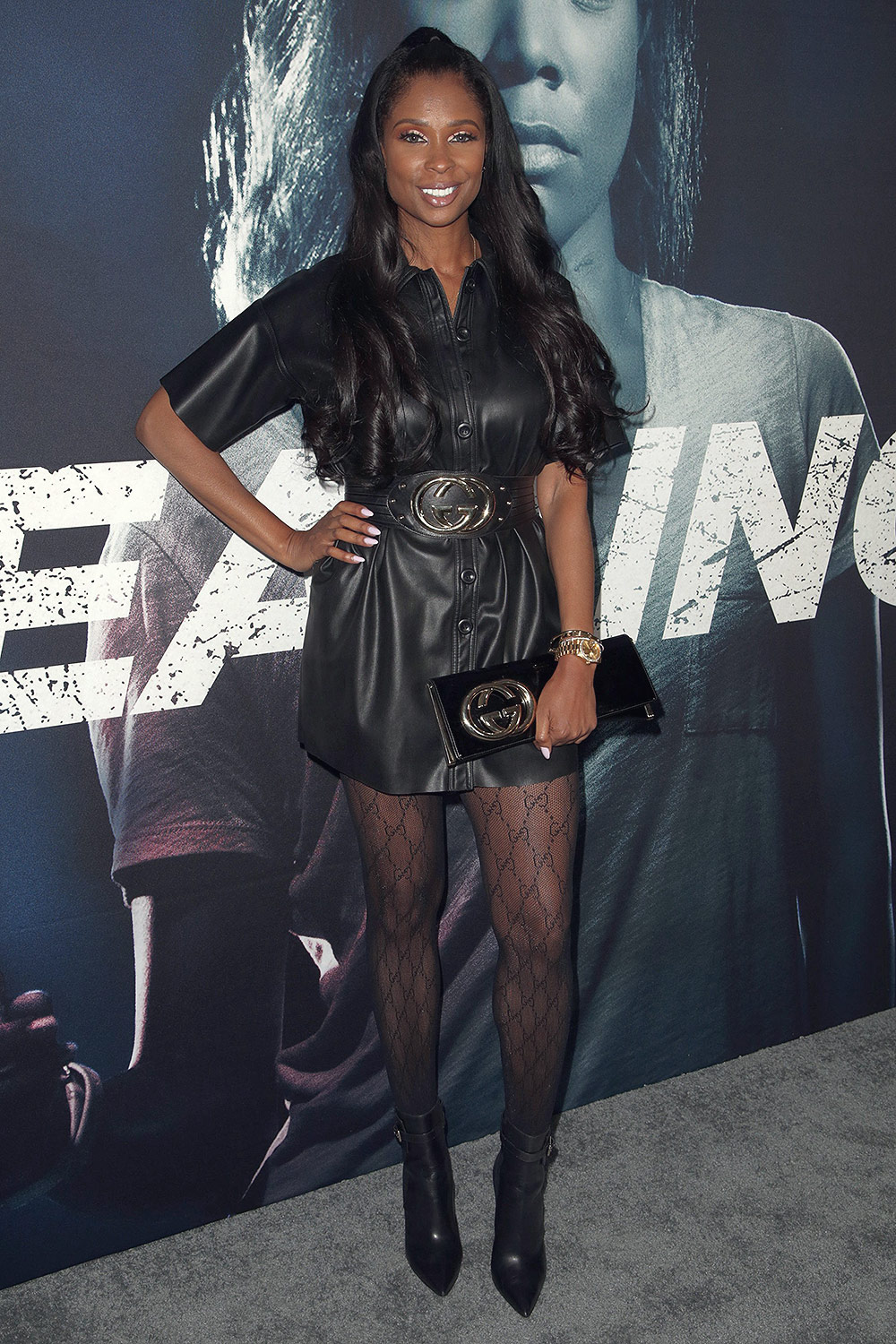 "Jennifer Williams attends premiere of ""Breaking In"""
