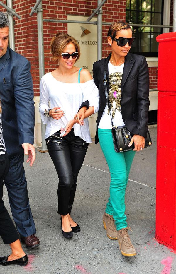 Jennifer Lopez at Nello's restaurant in NY