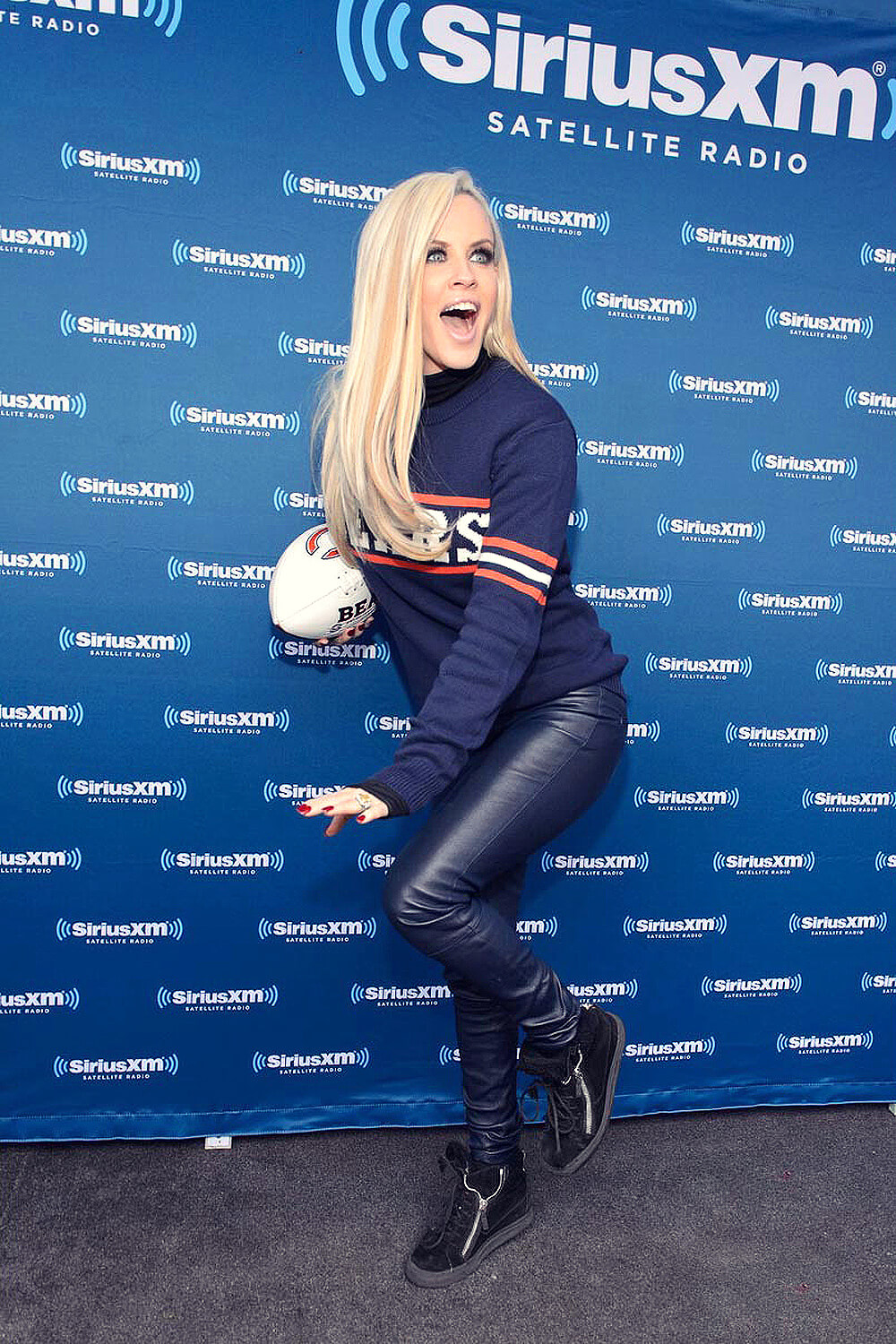 Jenny Mccarthy At Her Siriusxm Show For The Nfl Draft From Grant